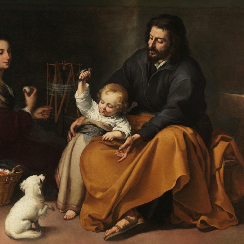 Sacra Famiglia col cagnolino