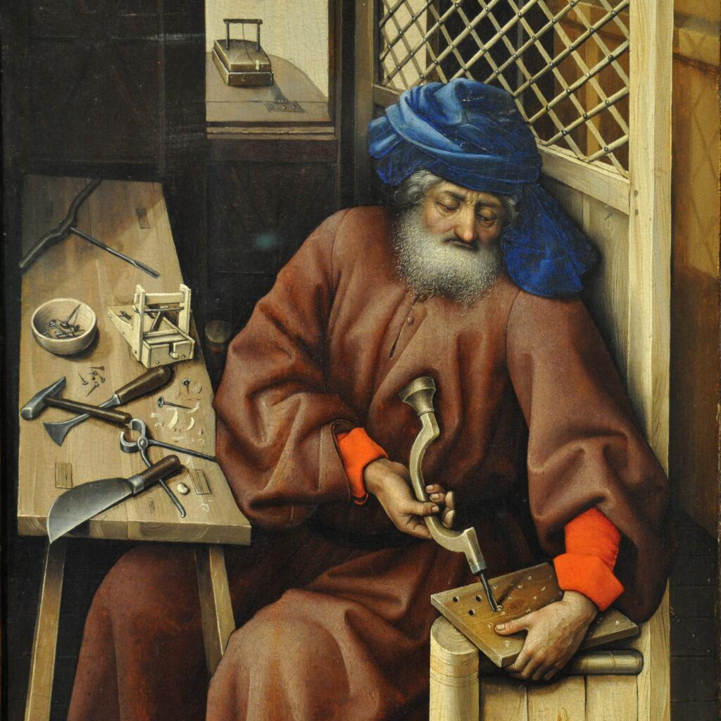 Trittico di Mérode - San Giuseppe al lavoro (particolare)
