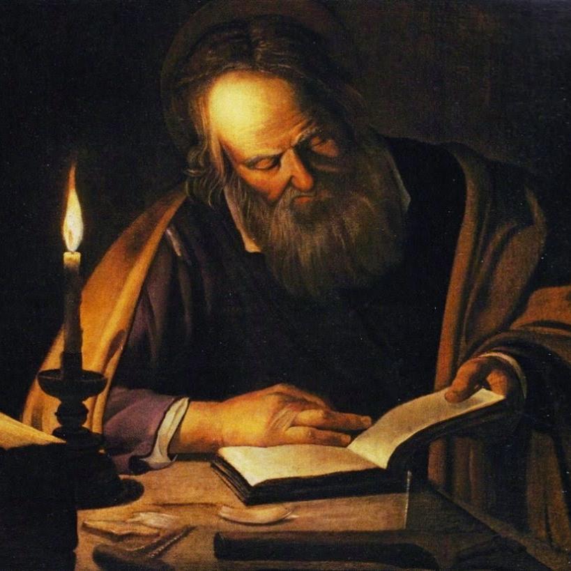 S. Giuseppe legge a lume di candela (nella sua bottega)