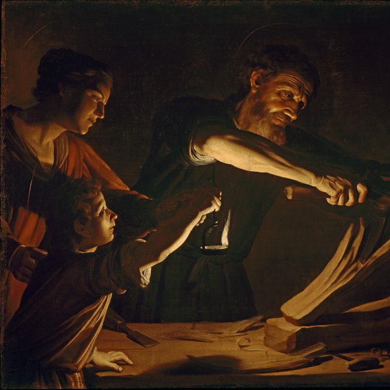 Sacra Famiglia nella bottega di carpenteria di S. Giuseppe